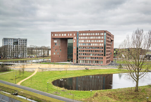 WAGENINGEN, HOLLAND, - JANUARY 26, 2016: Main Forum building of the Wageningen University and Research Centre in Wageningen in the Netherlands